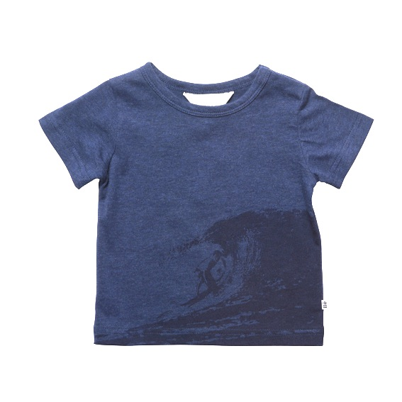 Bebe Navy Blue T-shirt With Surfer