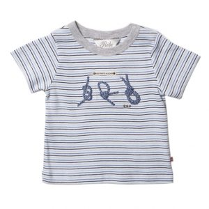 Bebe Striped T-shirt with knot design