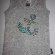 Bonds Grey Tank Top with Anchor Design