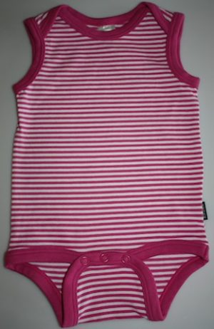 Bonds Striped Stretchie Snapsuit