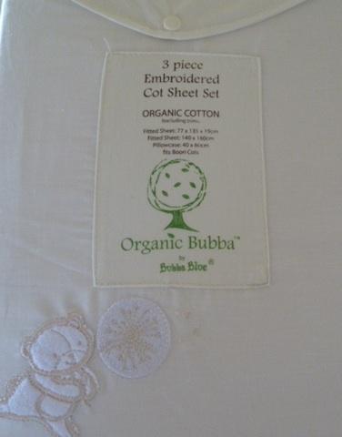 Bubba Blue Organic Cot Sheet Set