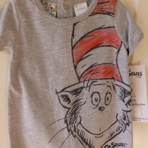 Cat In The Hat Grey T-shirt by Dr. Seuss