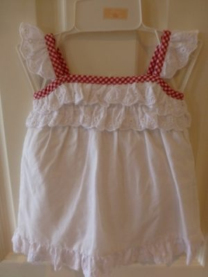 Chaps White Baby Girl's Dress