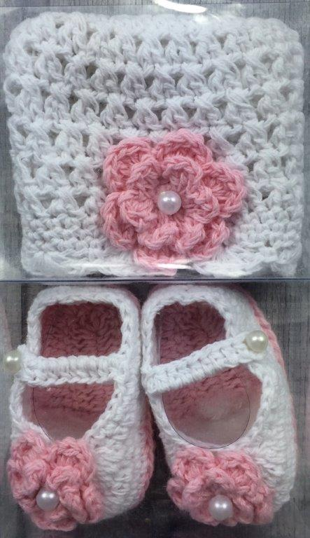 Girls Flower Beanie & Shoes