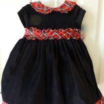 Laura Ashley Black Velvet Dress