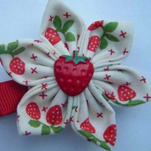 Maisie May Kimono hair clip - strawberry