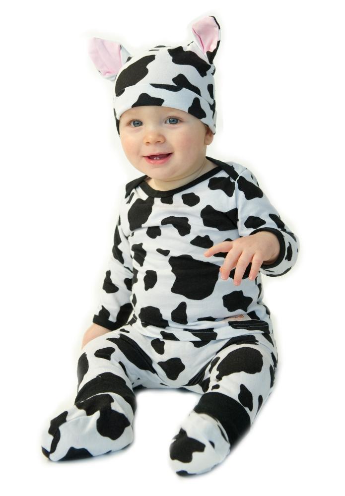 Noo 4 piece Cow outfit