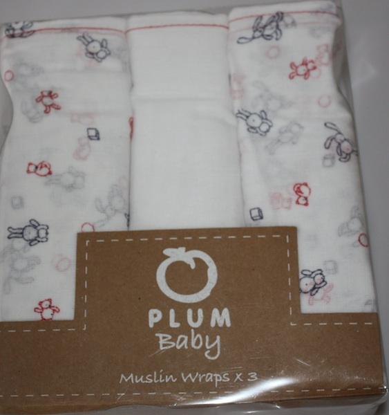 Plum Baby Muslin Wraps