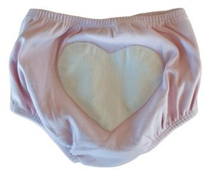 Sapling Nappy Pants with Heart in Pink