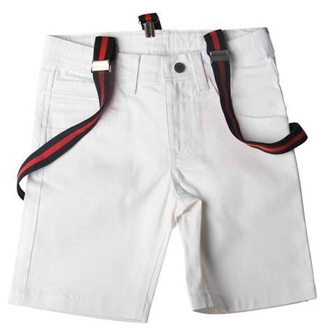 SoSooki White Shorts With Braces