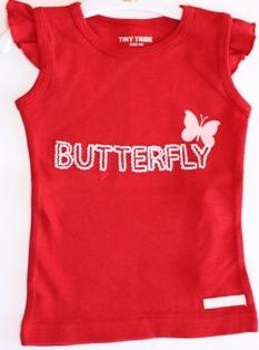 Tiny Tribe 'Butterfly' Singlet