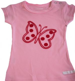 Tiny Tribe pink butterfly tee