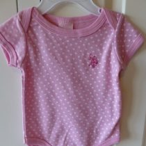 U.S. Polo Pink Heart Snapsuit