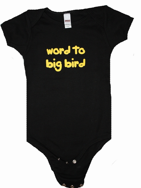 Uncommonly Cute 'Word to Bigbird' snapsuit
