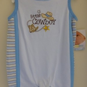 Vitamin Baby Little Cowboy Snapsuit
