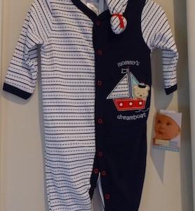 Vitamins Baby boy's Sleepsuit