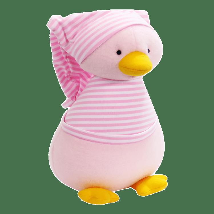 Fleece Penguin Pale Pink Stripe T Shirt Soft Toy Cookies