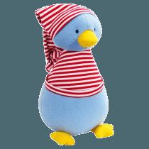 Fleece Penguin Red Stripe T-Shirt Soft Toy
