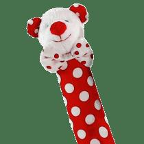 Red Polka Dot Bear Hand Squeaker
