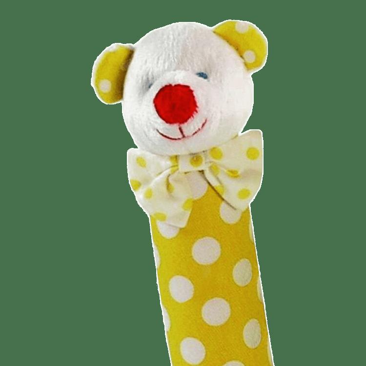 Yellow Polka Dot Bear Hand Squeaker Cookies Amp Cream