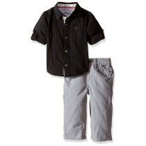 Calvin Klein Baby-Boys Shirt and Twill Pants Set